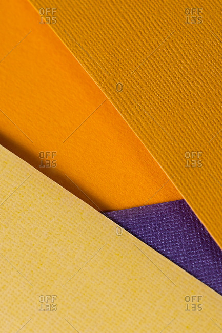 Yellow colored design paper background
