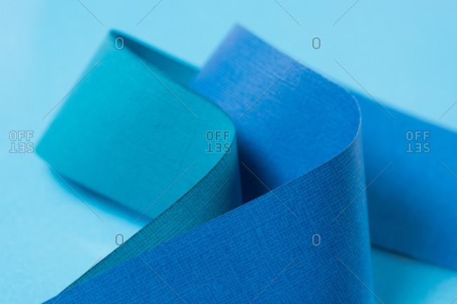 Blue color paper design background