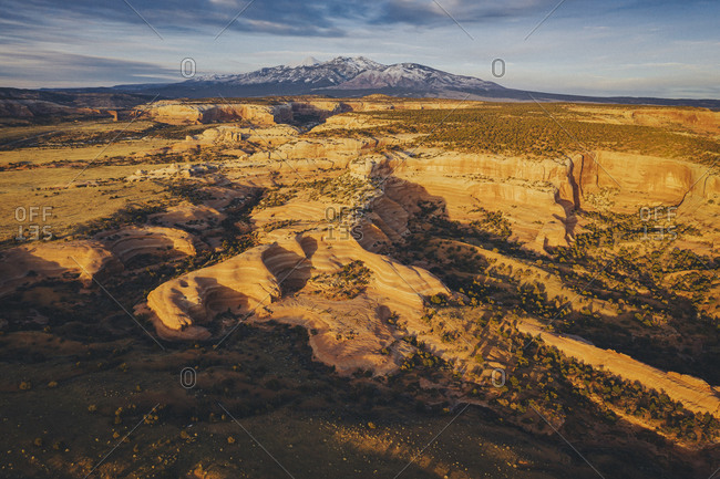 Utah's sandstone landscape from above