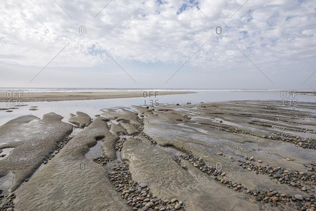 Coastal scene at Swami's Beach. Encinitas, CA, USA.