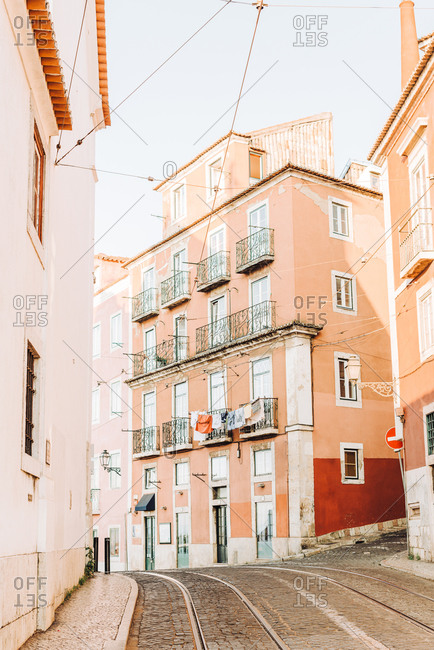 Street of Lisbon, empty in the morning