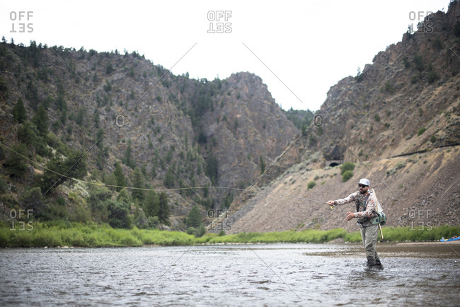 A fly fisherman on the Colorado River.