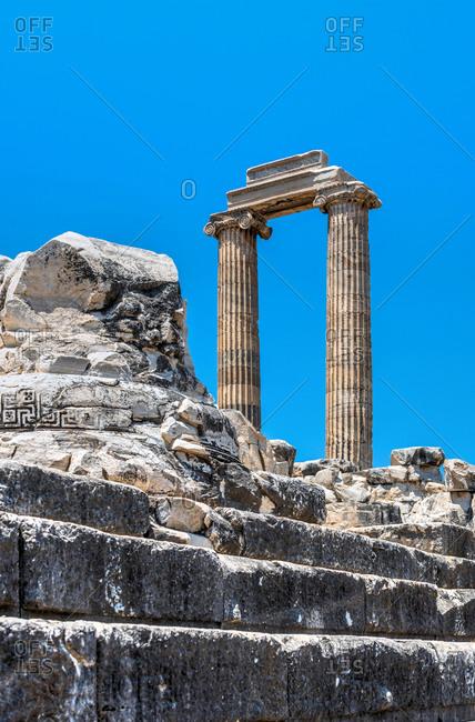 Ionic Columns in the Temple of Apollo at Didyma, Turkey