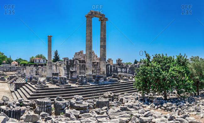 Turkey, Ayd�n, Didim - July 20, 2019: The Temple of Apollo