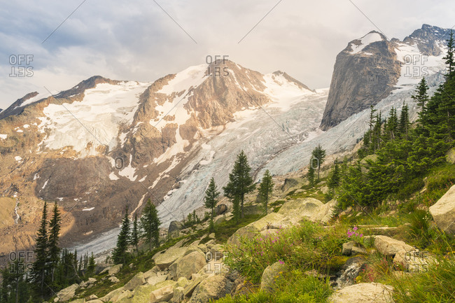 The Spires and Glacier in Bugaboo Provincial Park, British Colum