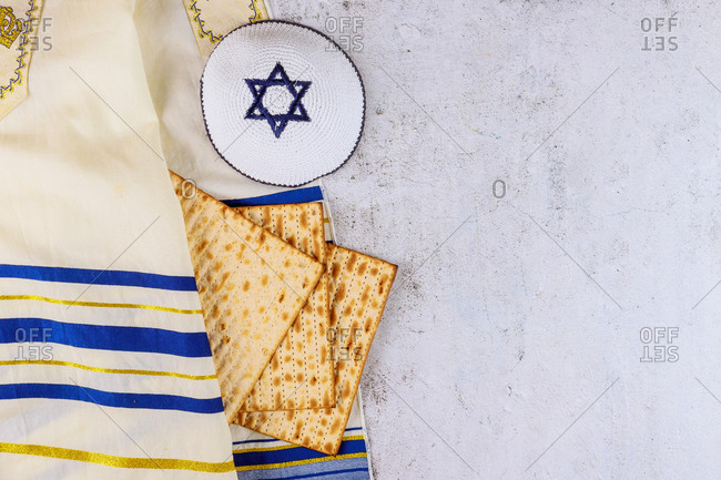Judaism religious on Jewish matza Passover