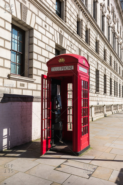 English phone booth near westminster palace