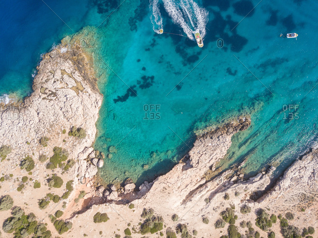 Aegean sea from above, Greece