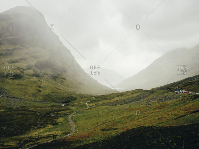 Three Sisters Of Glencoe, on a wet day