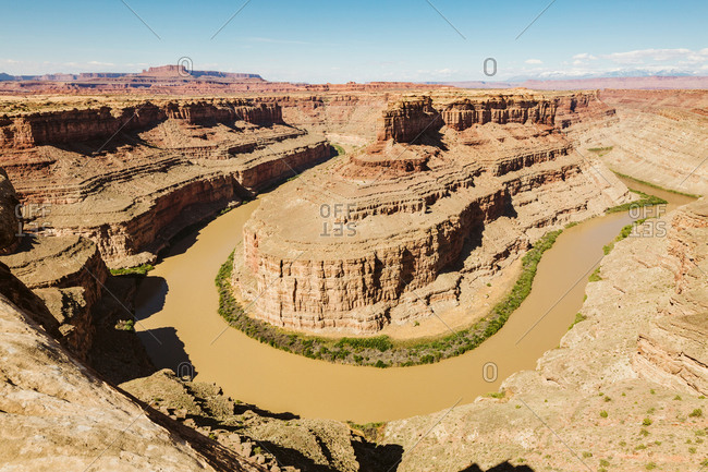 Confluence of the green river and the Colorado river at canyonlands
