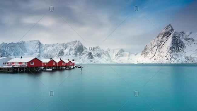 Fishing village, Hamnoy, Moskenes, Lofoten, Nordland, Norway