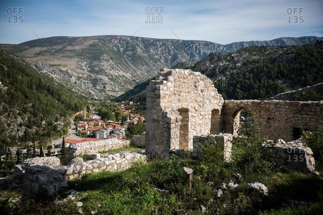 New town and old ruins, Stolac, Bosnia