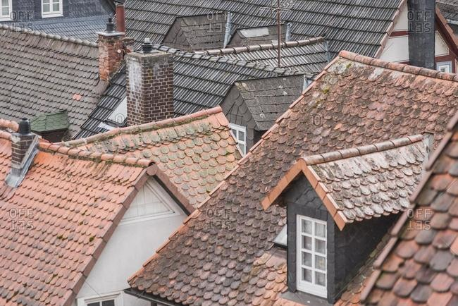 Traditional Pitched Rooftops, Marburg, Hesse, Germany