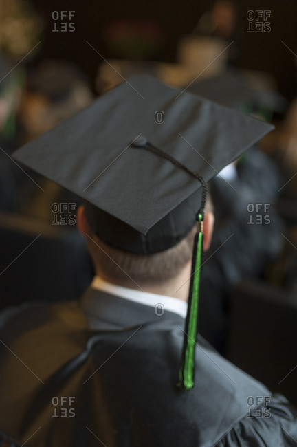 Student at a graduation ceremony