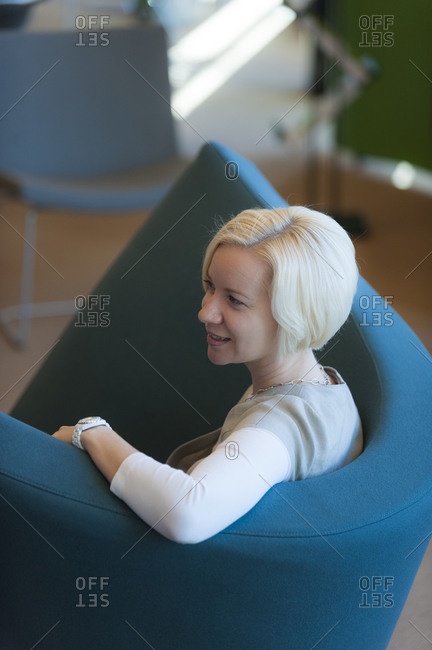 Helsinki, Finland - September 5, 2012: A business student at Aalto University in Helsinki