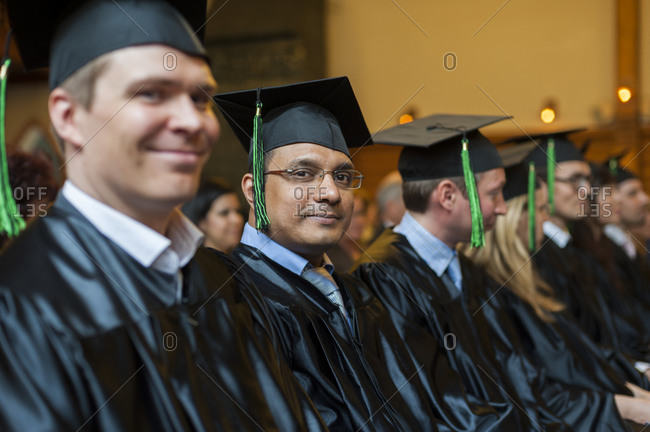 Helsinki, Finland - November 5, 2012: Business students from Aalto University in Helsinki at a graduation ceremony
