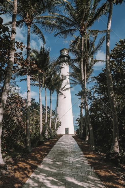 Cape Florida Lighthouse in Key Biscayne- Florida- USA