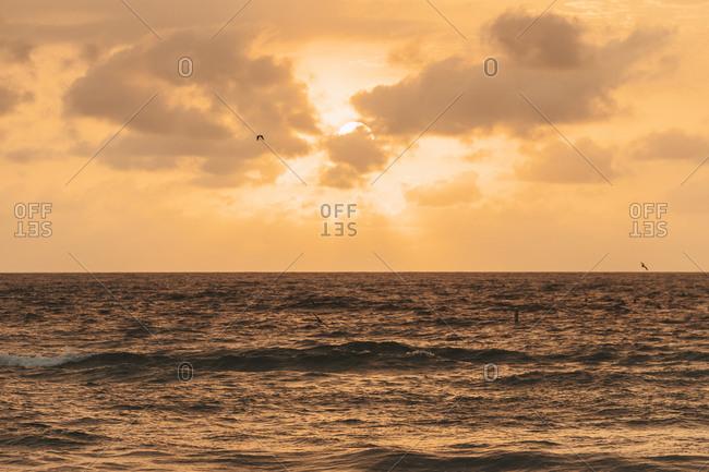 Seascape at sunset- Florida- USA