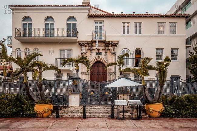 February 26, 2020: Casa Casuarina- Versace Mansion in South Beach- Miami Beach- Florida USA