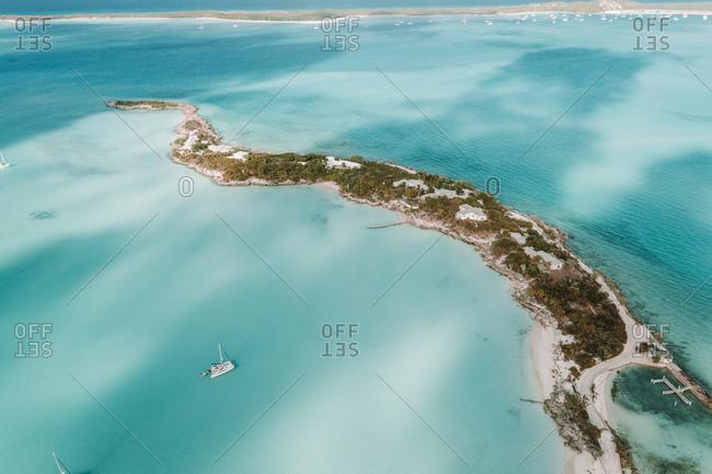Caribbean- Bahamas- Drone view beach and coast of Jolly Hall
