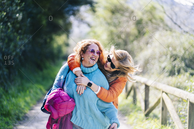 Two best friends having fun together in nature- Asturias- Spain