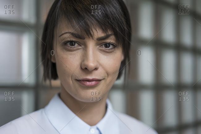 Portrait of serene businesswoman