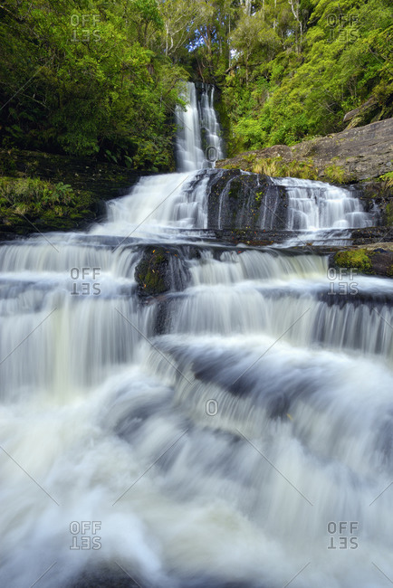 New Zealand- Otago- Long exposure of McLean Falls