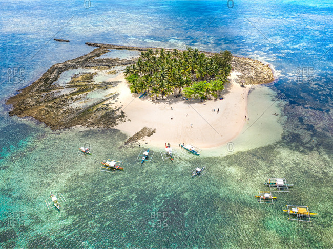 Aerial view of Guyam Island, Island hoping, Province of Surigao del Norte, Siargao Island