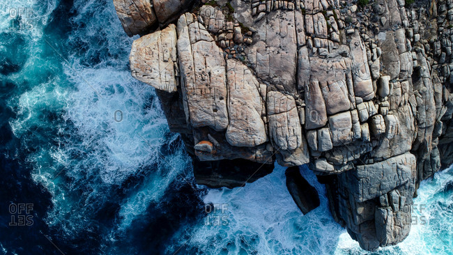 Aerial view of the Gap, Western Australia, Australia. Top down view