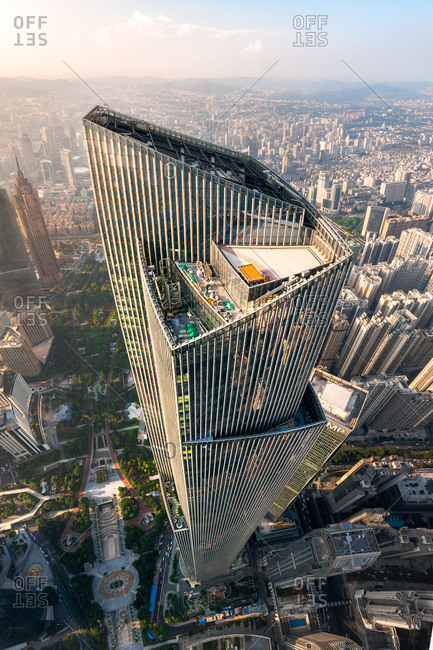 August 8, 2018: Aerial view of CTF Finance centre building, Guangzhou, China.