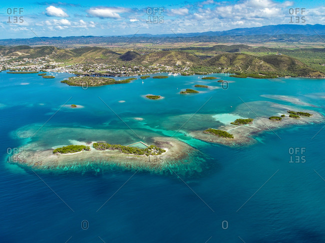Aerial view of the largest reef system on the southwestern coast of Puerto Rico.