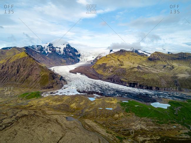 Aerial View Of Vatnajokull Glacier in Iceland