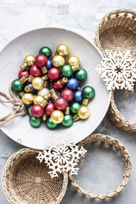 Christmas baubles and ornaments