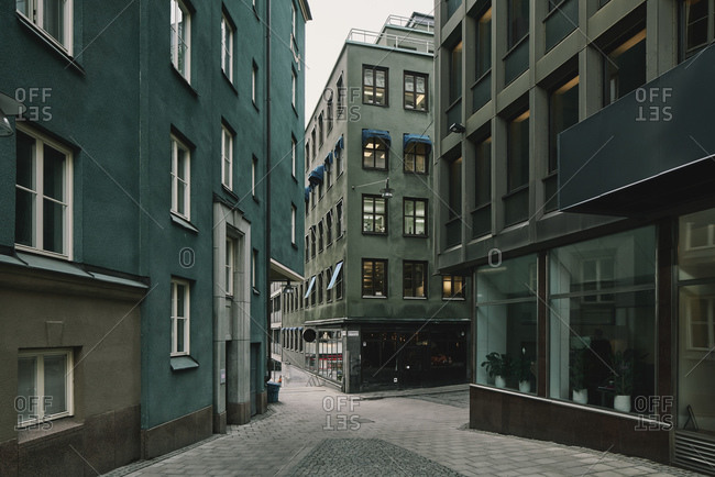 October 1, 2018: Green apartment buildings and hotel, Stockholm, Sweden