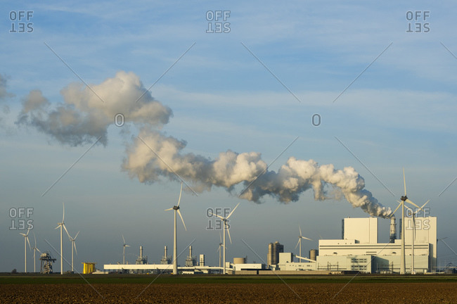 Coal fired power station, Eemshaven harbour area, Groningen, Netherlands
