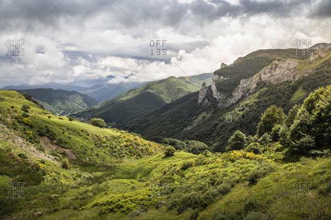 Landscape near Fuente De in national reserve Parque National de los Picos de Europa, Potes, Cantabria, Spain
