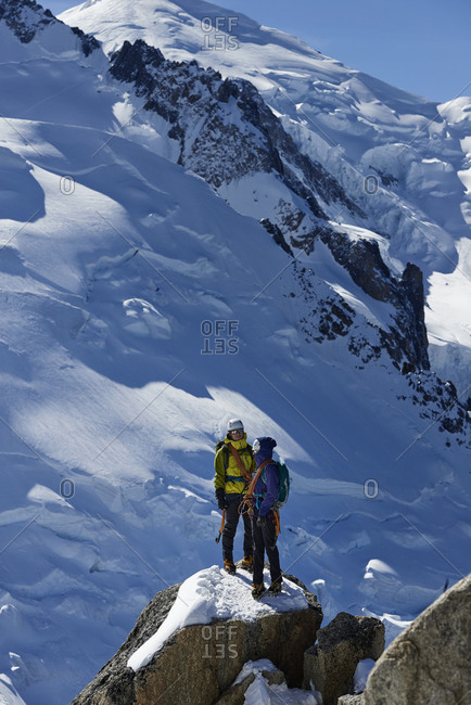 Mountain climbers, Chamonix, Rhone-Alps, France