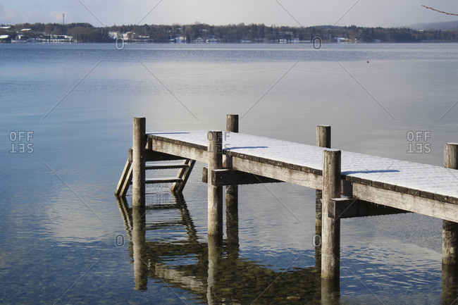 Empty pier, Lake Starnberg, Bavaria, Germany