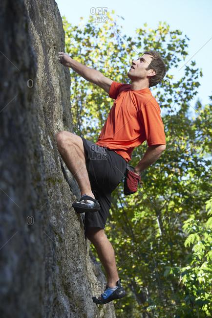 Free climber, Chamonix, Rhone-Alps, France