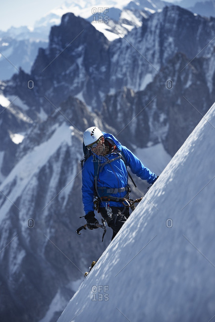 Mountain climber, Chamonix, Rhone-Alps, France
