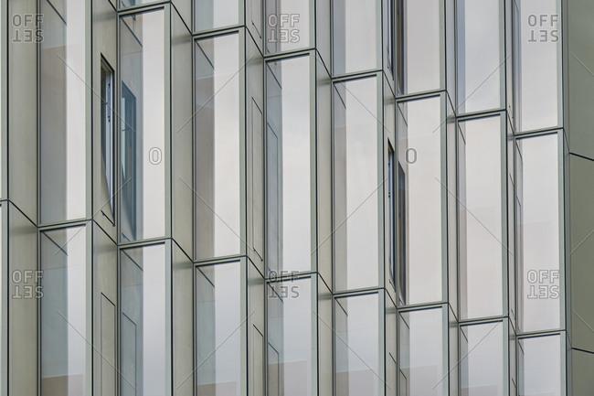 Modern building facade, Lisbon, Portugal
