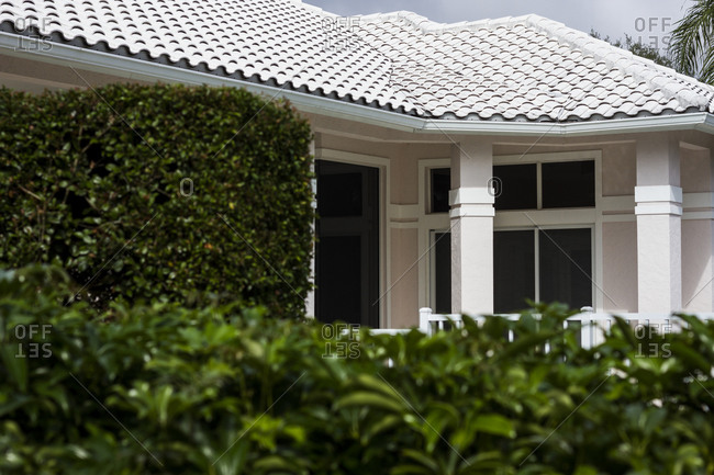 Detail of a private residence in the Pelican Beach area of Naples, Florida.