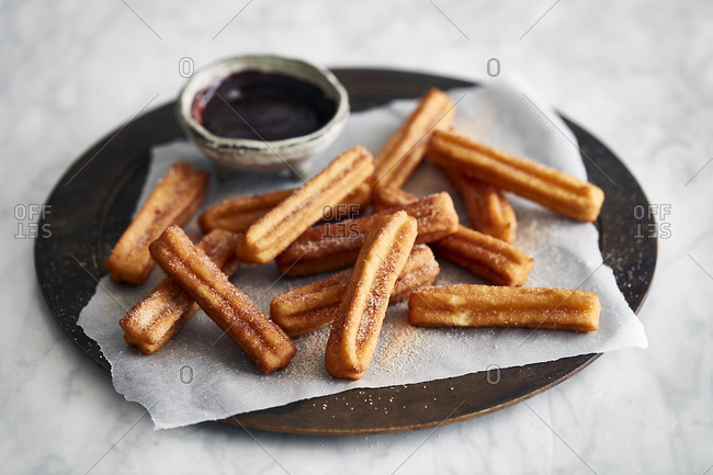 Churros and chocolate dipping - Offset