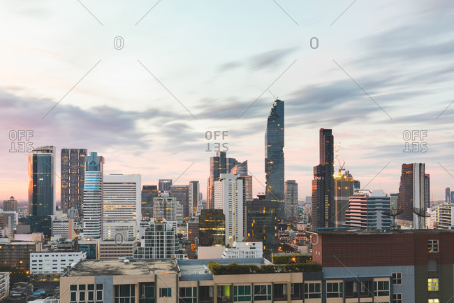 Cityscape in daytime, Bangkok, Thailand