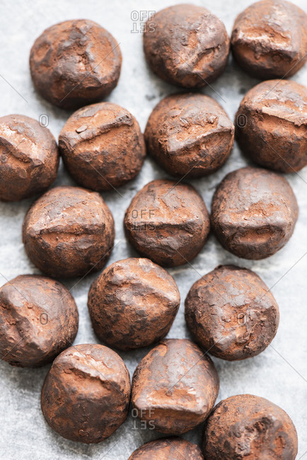 Chocolate truffles from the Offset Collection