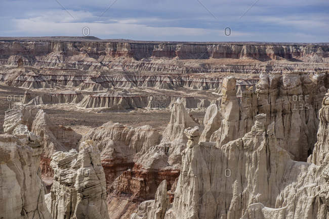 Massive Landscape Coal Mine Canyon on Navajo Reservation in Arizona