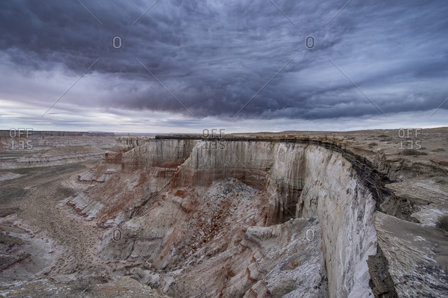 Massive Landscape Coal Mine Canyon on Navajo Reservation in Arizona