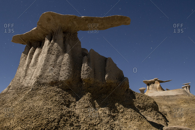 Wild Rock Formations in the desert Wilderness of New Mexico