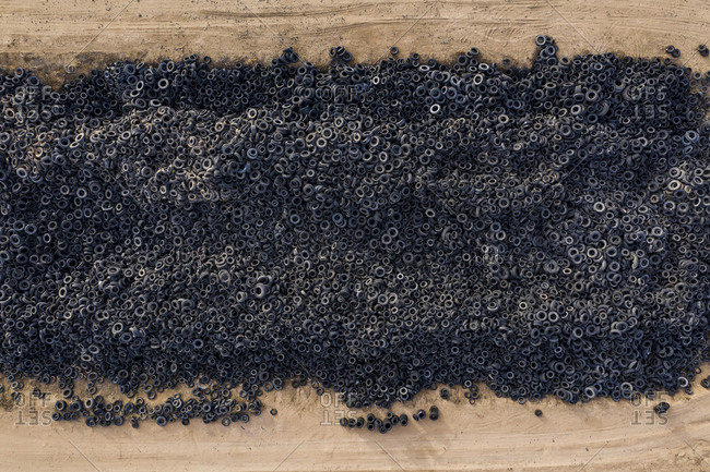 Mountains of Tires in a Landfill in the Colorado Plains