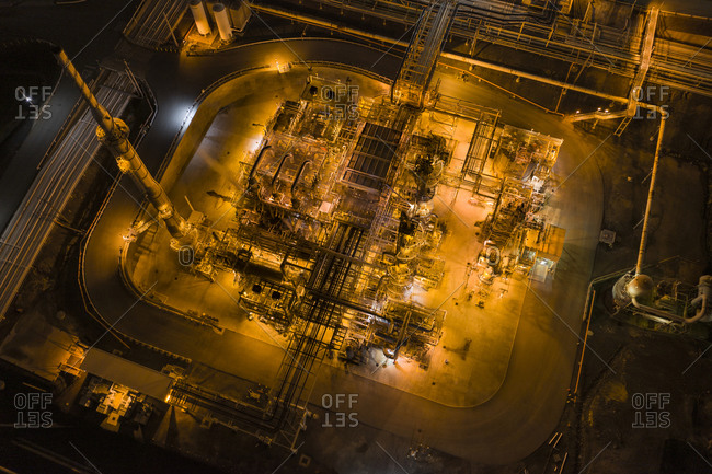 A Refinery as Seen from Above near Tomey, San Francisco, California